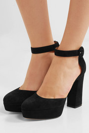 70 suede Mary Jane platform pumps