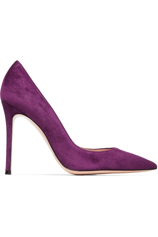 Purple 105 suede pumps   Gianvito Rossi