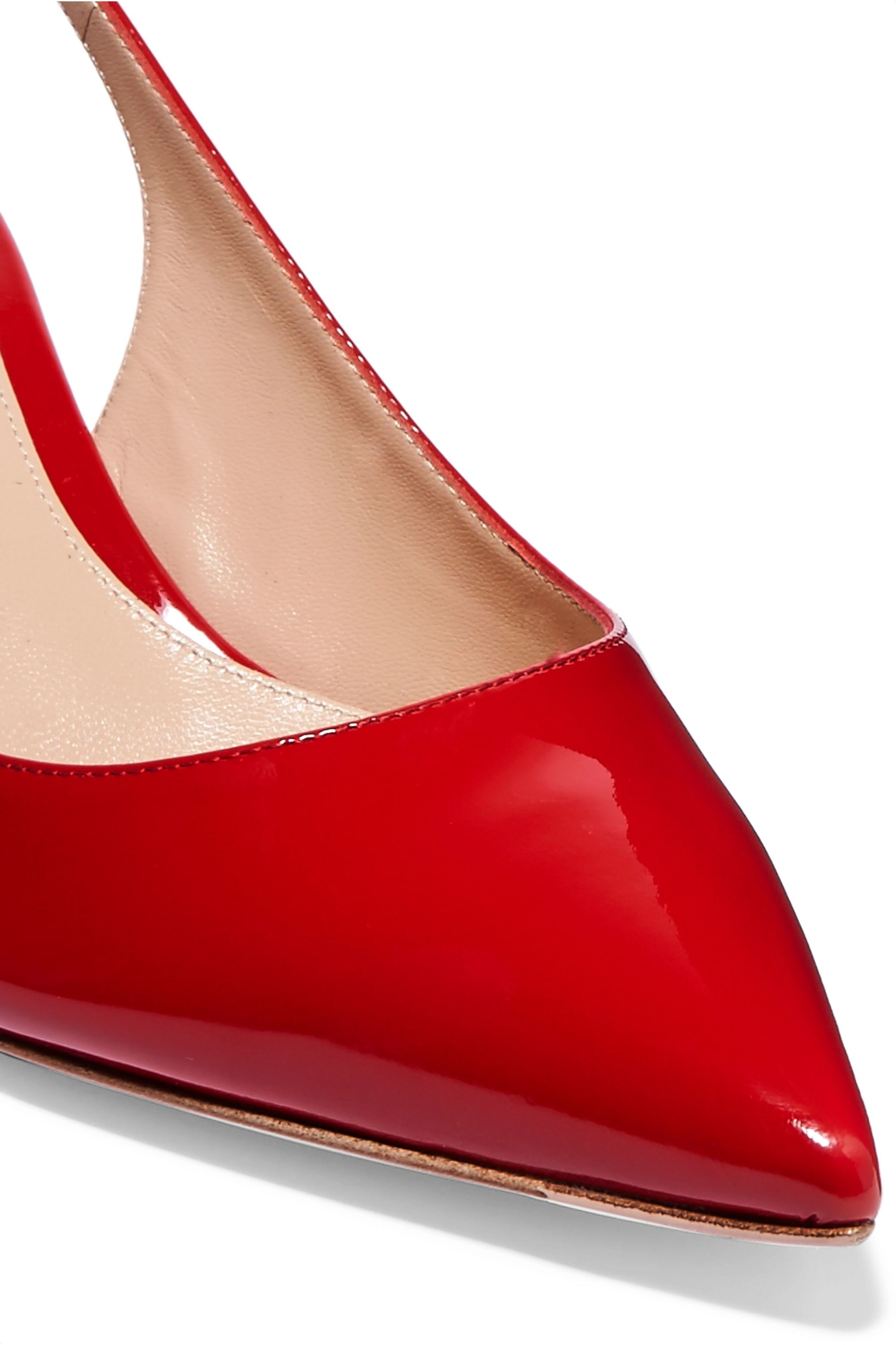 Gianvito Rossi 55 patent-leather slingback pumps
