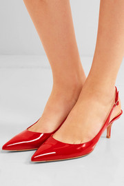 55 patent-leather slingback pumps