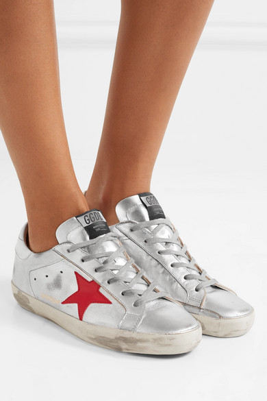 Metallic Superstar leather sneakers Golden Goose rfVQRqME