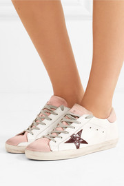 Golden Goose Deluxe Brand Super Star leather-trimmed sneakers