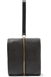 Doppler Medium textured-leather clutch
