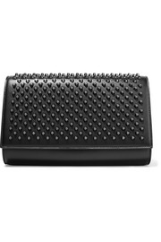 Paloma studded leather clutch