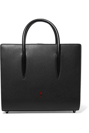 Christian Louboutin Paloma medium spiked matte and patent-leather tote