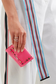 Christian Louboutin Macaron spiked patent-leather wallet
