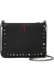 Christian Louboutin Triloubi small studded textured-leather shoulder bag