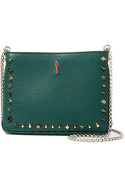 Christian Louboutin Triloubi small embellished textured-leather shoulder bag
