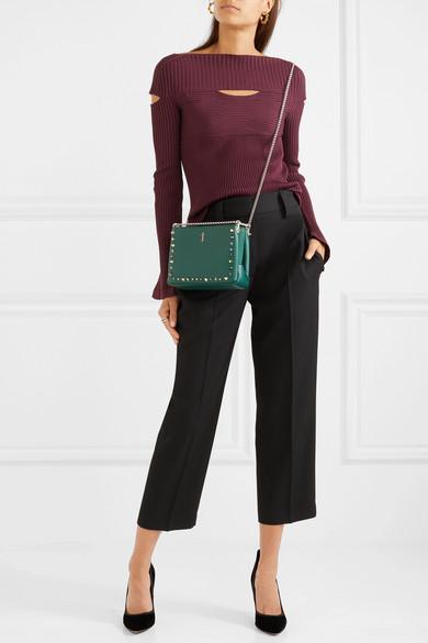 47e0fec8a03 Triloubi small embellished textured-leather shoulder bag