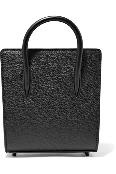 Christian Louboutin - Paloma Nano Textured And Patent-leather Tote - Black