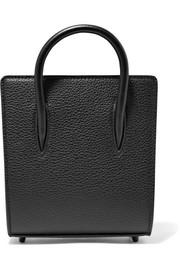 Christian Louboutin Paloma nano textured and patent-leather tote