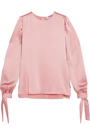 MSGM Hammered-satin top