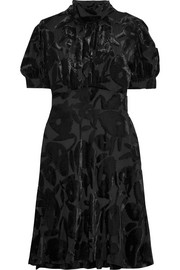 McQ Alexander McQueen Crystal-embellished devoré-velvet dress