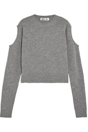McQ Alexander McQueen Cutout wool and cashmere-blend sweater