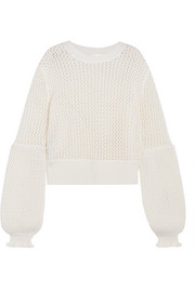 McQ Alexander McQueen Open-knit wool sweater