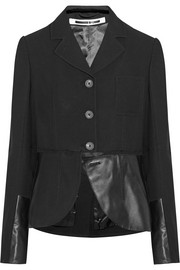 McQ Alexander McQueen Decon leather-paneled twill blazer