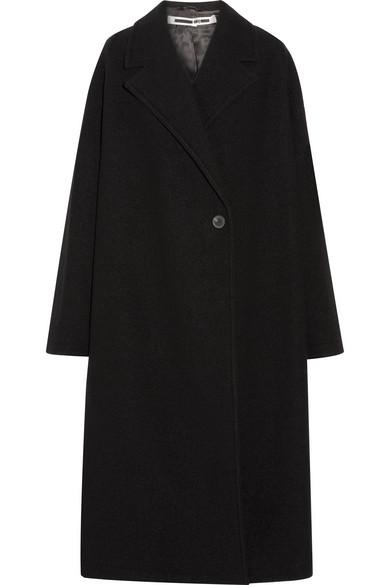 McQ Alexander McQueen - Oversized Wool-bouclé Coat - Black