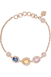 18-karat gold, sapphire and diamond bracelet