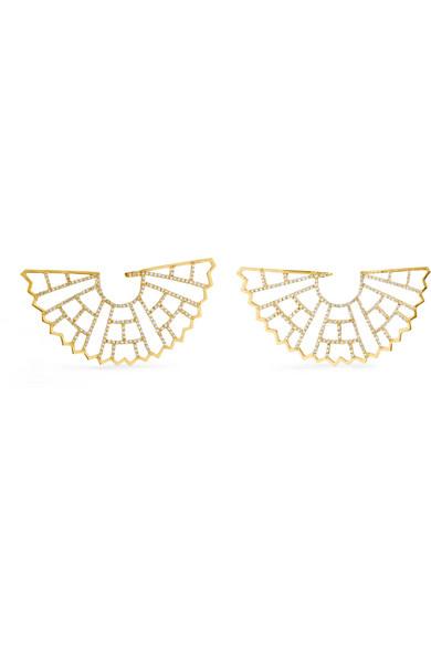 Amrapali Zardozi 18-karat Gold Diamond Earrings p1NPR