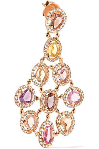Amrapali Blossom 18-karat Gold, Sapphire And Diamond Earrings