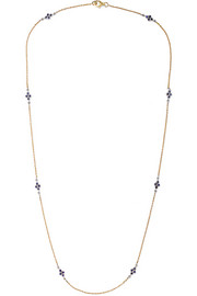 Amrapali 18-karat gold, sterling silver and sapphire necklace