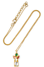 Amrapali 22-karat gold multi-stone necklace
