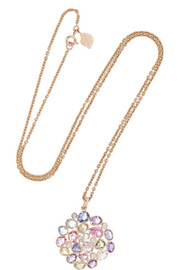 18-karat gold, sapphire and diamond necklace