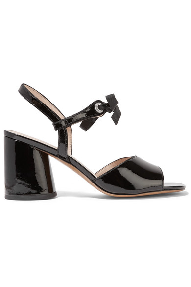 Marc Jacobs - Wilde Crystal-embellished Patent-leather Sandals - Black at NET-A-PORTER