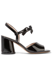 Wilde crystal-embellished patent-leather sandals