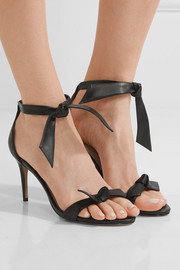 Patty bow-embellished leather sandals