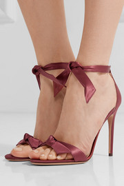 Clarita bow-embellished satin sandals