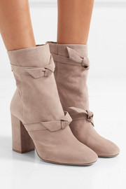 Lorraine knotted suede ankle boots