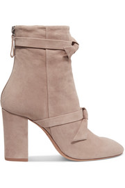 Alexandre Birman Lorraine knotted suede ankle boots