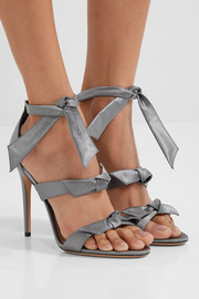 Mary bow-embellished satin sandals