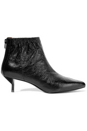 Blitz ruched textured-leather ankle boots
