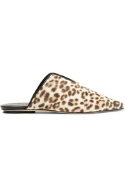 Tibi Cacey calf hair slippers