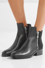 3.1 Phillip Lim Alexa textured-leather and suede ankle boots