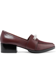 3.1 Phillip Lim Quinn embellished leather and suede loafers