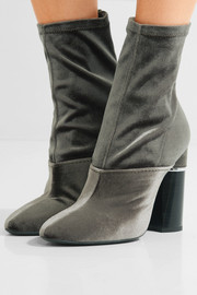 3.1 Phillip Lim Kyoto stretch-velvet sock boots