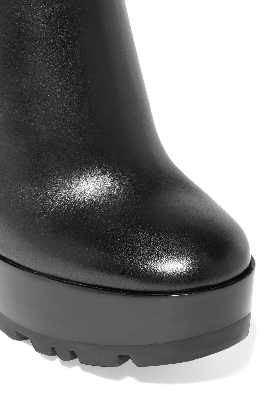 Jil Sander Leather platform ankle boots