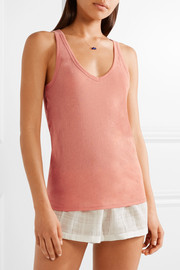 Organic Pima cotton-jersey pajama top