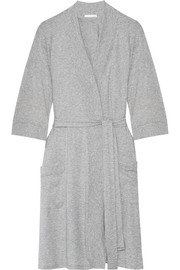 Pima cotton-jersey robe
