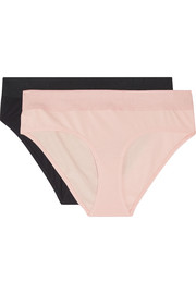 Hadlee set of two stretch organic Pima cotton-jersey briefs