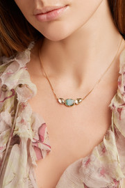 Brooke Gregson Orbit 3 18-karat gold, opal and sapphire necklace