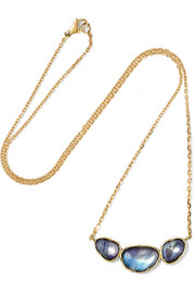 Brooke Gregson Orbit 3 18-karat gold sapphire necklace