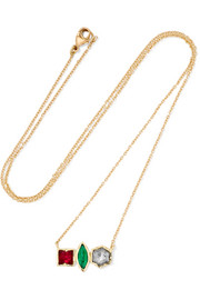 Brooke Gregson Rivera 18-karat gold mutli-stone necklace