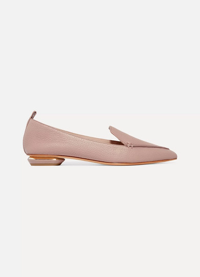 Beya Textured-leather Point-toe Flats - White Nicholas Kirkwood 5Upnp6