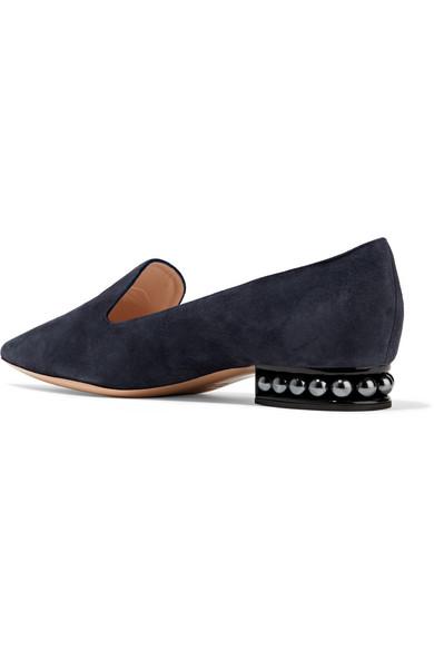 Nicholas Kirkwood Casati verzierte Loafers aus Veloursleder