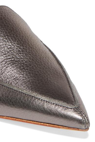 Nicholas Kirkwood   Beya strukturiertem Slippers aus strukturiertem Beya Metallic-Leder 1d645b