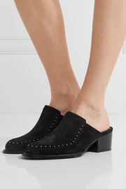 rag & bone Weiss studded suede mules